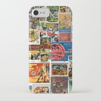 movie posters iPhone & iPod Cases featuring Vintage Sci-Fi Movie Posters  |  Collage by Silvio Ledbetter