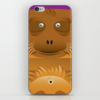 furry iPhone & iPod Skins featuring Furry Ape by Yay Paul