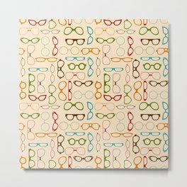 Retro glasses Metal Print