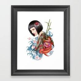 KIMONO Framed Art Print