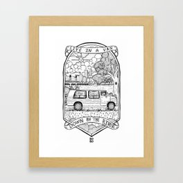Live In A Van, Down By The River Framed Art Print