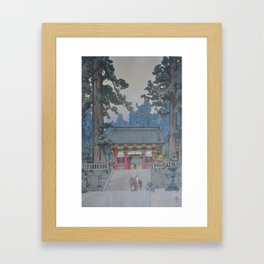 1937 Hiroshi Yoshida Japanese Woodblock Print Toshogu Shrine Framed Art Print