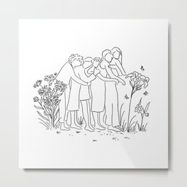 women who support each other Metal Print