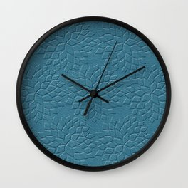 Leather Look Petal Pattern - Niagara Color Wall Clock