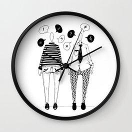 Little Talks Wall Clock
