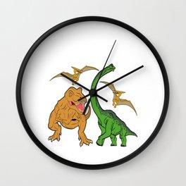 "Nice Dinosaur Shirt For Animal Lovers ""I'm This Many Dinosaurs Old"" T-shirt Design Jurassic Park Wall Clock"
