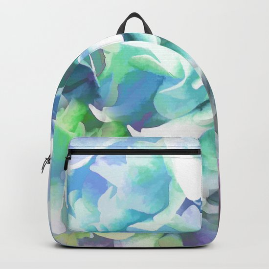 Hydrangea in a Pastel Light Backpack