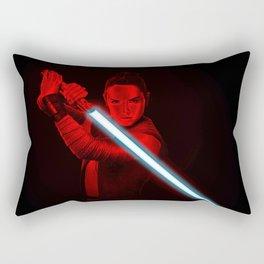 Red Rey Blue lightsaber Art StarWars Rectangular Pillow