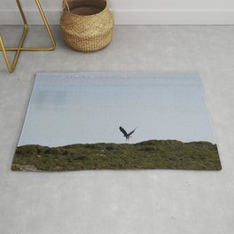 Osprey In Flight on the Ocean Rug