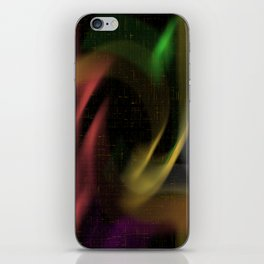 abstract colourart iPhone Skin