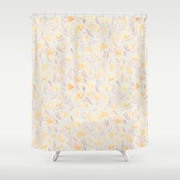 Floral watercolor orange pattern 2 Shower Curtain
