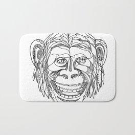 Humanzee Smiling Doodle Bath Mat
