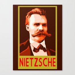 Philosophers of Note - Nietzsche Canvas Print