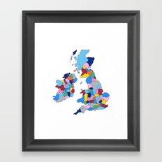 England, Ireland, Scotland & Wales Framed Art Print