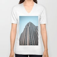 30 rock V-neck T-shirts featuring The Rock by MikeMartelli