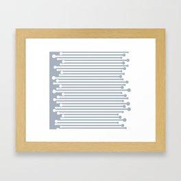 gray flip stripe Framed Art Print