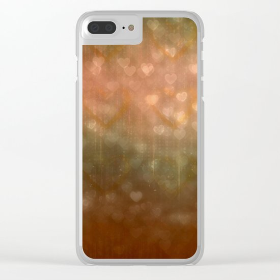 Autumn Dreams Abstract Clear iPhone Case