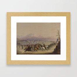 Alfred Jacob Miller - Cavalcade Framed Art Print