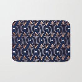 COPPER WAVE - NAVY BLUE Bath Mat