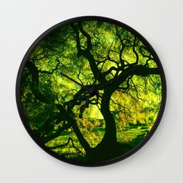 Green is the Tree Wall Clock