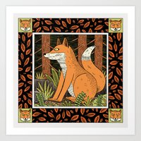 foxes Art Prints featuring Foxes by Jack Teagle