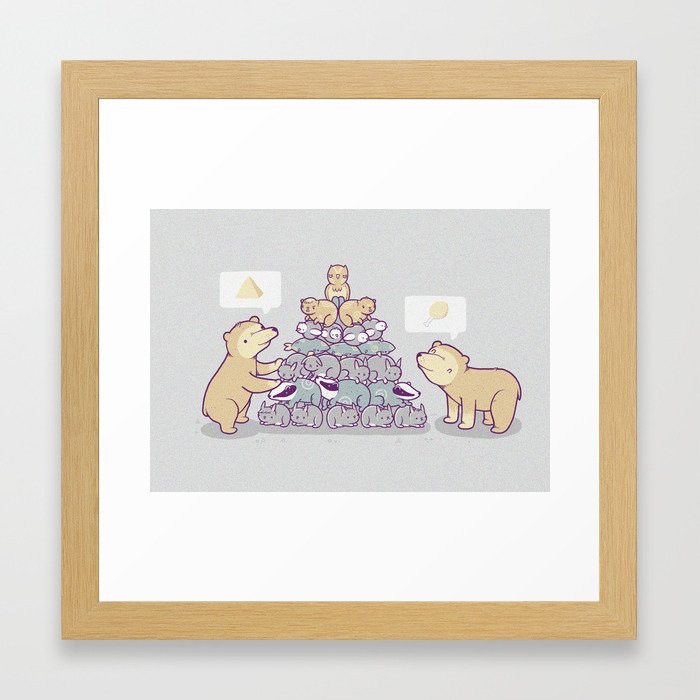 Bearamid Framed Art Print