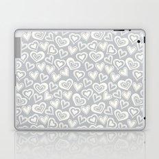 MESSY HEARTS: IVORY GRAY Laptop & iPad Skin