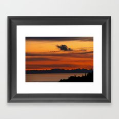 Vivid and Peaceful - Alaska Sunset Framed Art Print