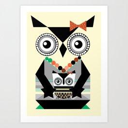 Elsa the Owl Art Print