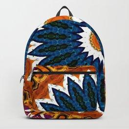 Mandala Gold and Blue Backpack