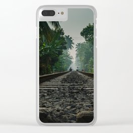Railroad Track Clear iPhone Case