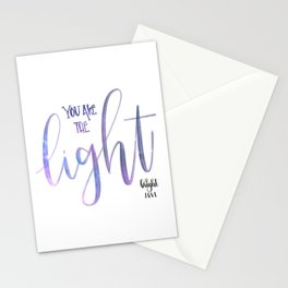You Are The Light Stationery Cards