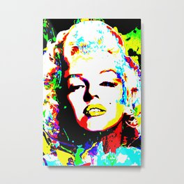 Pop Art of Actress M. Monroe - © Doc Braham; All Rights Reserved Metal Print