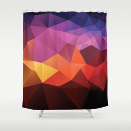 Abstract geometric triangle background Shower Curtain