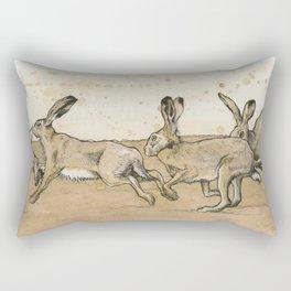 Buns on the Run Rectangular Pillow