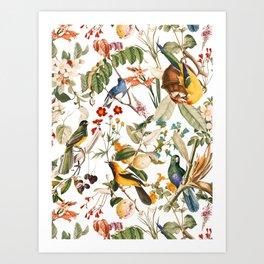 Floral and Birds XXXII Art Print