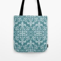 damask Tote Bags featuring Damask by Xiao Twins