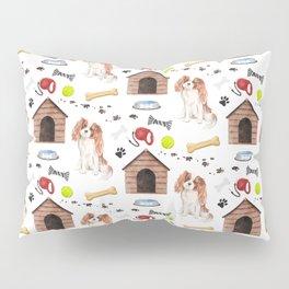 Cavalier White Half Drop Repeat Pattern Pillow Sham