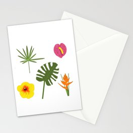 Jungle / Tropical Pattern in white Stationery Cards