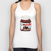 nutella Tank Tops featuring Nutella by Angela Dalinger