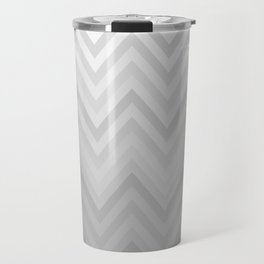 Chevron Fade Grey Travel Mug