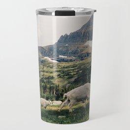 Montana Mountain Goat Family Travel Mug
