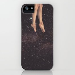 Hanging in space iPhone Case