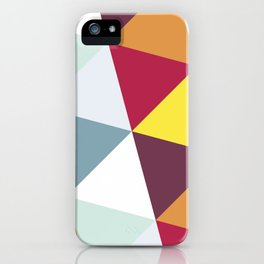 WARM AND COLD TRIANGLES iPhone Case