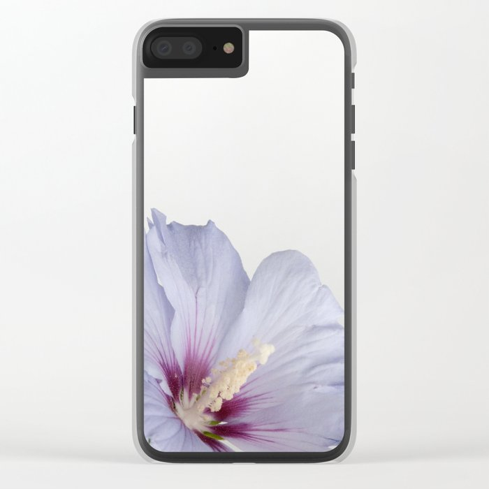 Soft Purple Blue Hibiscus Flower #1 #decor #art #society6 Clear iPhone Case