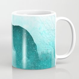Teal Ghost Bear Coffee Mug