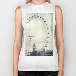 Big Ben and London Eye Biker Tank
