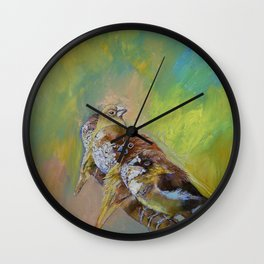 Finches Wall Clock