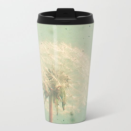 Dandelion Clock Metal Travel Mug