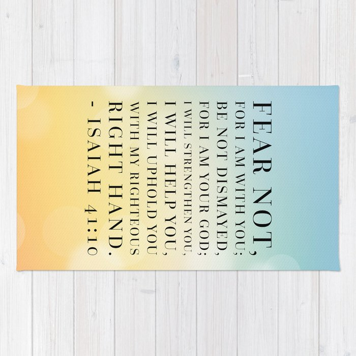 Isaiah 41:10 Bible Quote Rug